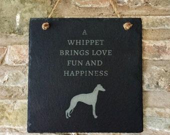 Whippet Slate Plaque, Whippet Plaque, Whippet Gift, Whippet Lovers Gift, Whippet Slate Hanging Sign/Plaque, Dog breed Slate Plaque, Whippet