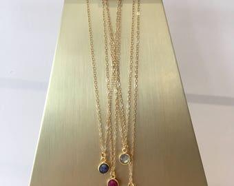 Custom Gemstone Pendant Necklace