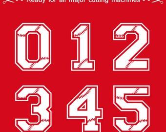 Baseball Numbers svg, Baseball Letters Svg Baseball Monogram Font Svg Alphabet Cut Files Silhouette Studio Cricut Svg Dxf Jpg Png Eps