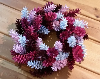Pine Cone Wreath, Pink, Red, and White Wreath,  Valentine's Day Wreath, Spring Wreath, Girl's RoomWreath