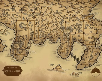 Map of the Kanto and Johto Regions