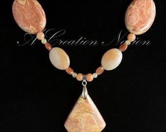 Cherry Creek Jasper & Carnelian Necklace - Jasper Necklace - Creek Jasper - Carnelian Necklace - Gemstone Necklace - Jasper Jewelry