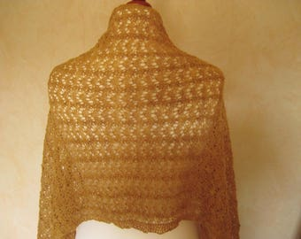 Lace Summerly knitting cloth plant scarf jackets dyed woollen cloth yellow gold brass wool silk