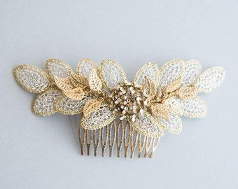 Bridal headpiece - Peineta woven wire