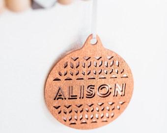 Custom Laser Cut Name Ornament