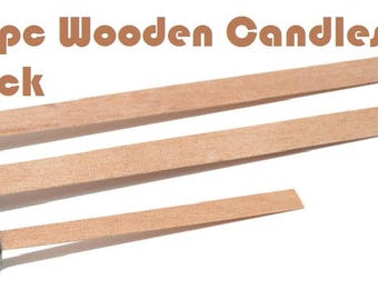 50 pieces 9cm / 13.5cm  / 15cm Wooden Candles Wick Sustainer Candle Wick Core for Candle Home Decor