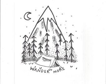 Wander More print/calligraphy