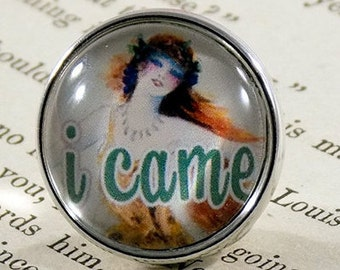 "Snap Charm Button - ""I Came"" - Meme Jewelry, Meme Gifts, Dank Memes, Vintage, Noosa, Ginger Snaps, Memes, Internet Humor"