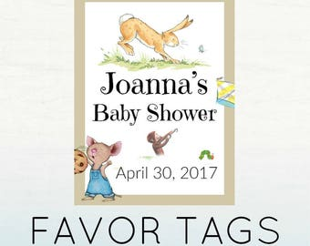 Storybook Favor Tags, Storybook Baby Shower, Printable Favor Tags, INSTANT DOWNLOAD