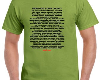 Yorkshire Hall of Fame Tee Shirt, Personalised WITH YOUR NAME!