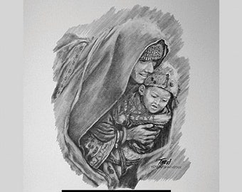Print-Afghanistan - Mother and Child series