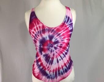 Tie dye pink spiral tank top Sz. S/M