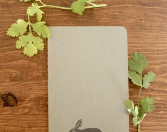 Sale 15% off!! Rabbit notebook - journal - sketchbook