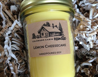Lemon Cheesecake Scented Soy Candle