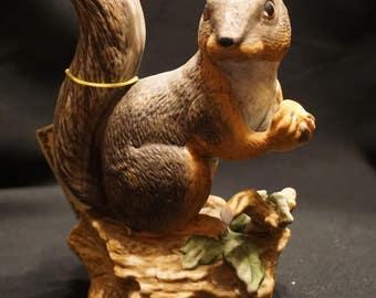 Handmade Porcelain Squirrel Figurine