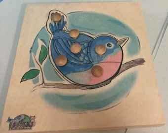Bluebird Puzzle (6 pieces) Woodland collection