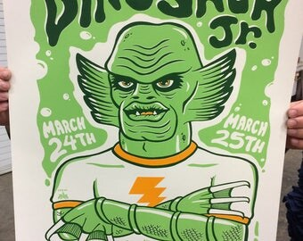 Dinosaur Jr screenprint gigposter official 03-24-25-17