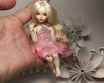Little Daisy Miniature Porcelain OOAK BJD Art Doll by Julia Arts
