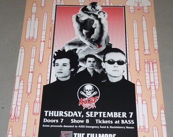 A Benfit for KUSF 90.3 FM @ The Fillmore: Love & Rockets, Maximillion's Motorcycle Club, Heaven Insects September 7, 1989