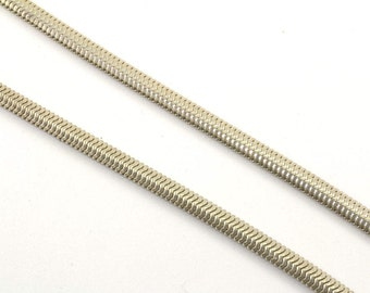 Vintage Brazilian Snake Style Chain Necklace 925 Sterling Silver NC 653