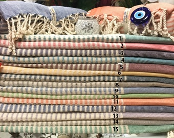 Turkish Peshtemal/Bath/Beach Towel! Handloomed 100% Cotton