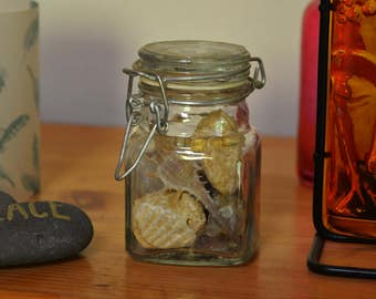 Beach in a Jar, shells in a jar, nautic beach decor