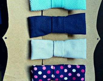 Small cotton bows, headbands or clip,polka dot bow,small bows,fits all sizes