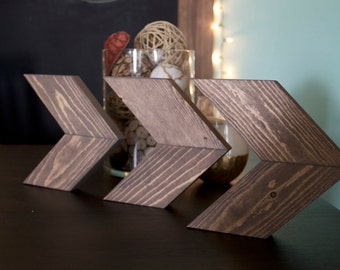 Wooden Chevron Arrows- Set of 3