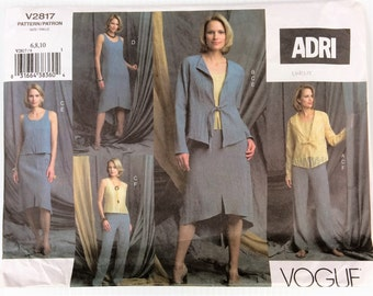 Vogue sewing pattern 2817 - Adri - Misses' petite jacket, top, dress, skirt and pants