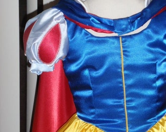 Snow White Princess Costume for Teens Adults w/ Sleeve Options