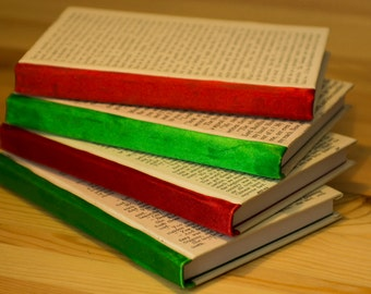 Ruled Geek Notebooks bound in Upcycled Book Pages