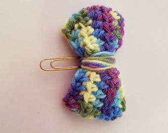 Planner Accessory Crochet Bow Paperclip