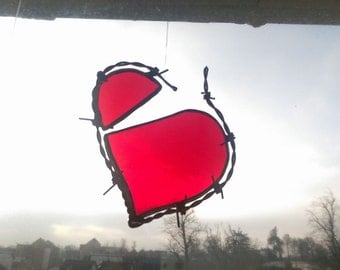 Stained Glass Rebel Barbed Wire Broken Heart