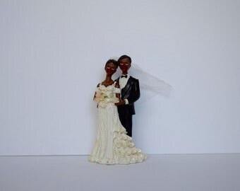 African American Cake Toppers Etsy