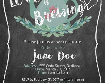 Love is Brewing - Bridal Shower Invitation
