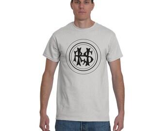Hudson River State Hospital HRSH Initials T-Shirt, Kirkbride Asylum Tee Shirt, Insane Asylum, Urban Explorer, Abandoned Tshirt, Black Ink