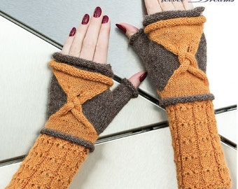 "FINGERLESS GLOVES  ""Ray braids"""