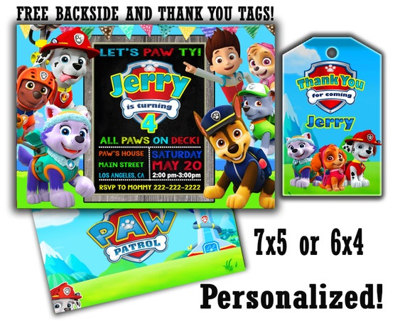 photo relating to Paw Patrol Invitations Printable referred to as Paw Patrol invitation Significant SALE Exceptional Provide Paw patrol invite Paw patrol invites Paw patrol printable Paw patrol birthday Paw patrol