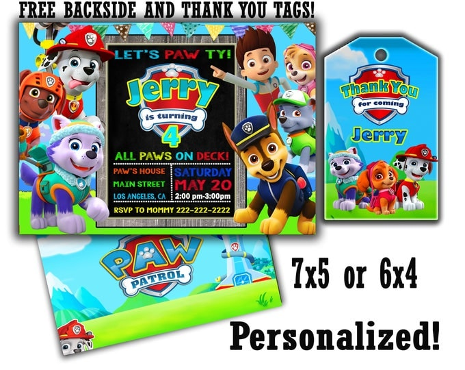 Paw Patrol invitation BIG SALE Special Offer Paw patrol invite Paw patrol invitations Paw patrol printable Paw patrol birthday Paw patrol