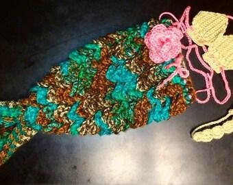 Baby Crochet Mermaid Outfit