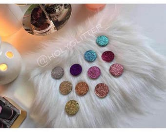 Single Pan pressed Glitter Eyeshadow HALF SIZE (26mm)