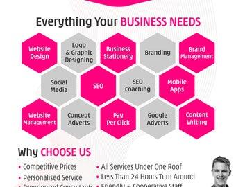 Flyer, Flyer Design, Custom Flyer Design, Custom Flyer, Beach Party Flyer, Poster Design, Leaflet Design, Business Flyer, Corporate Flyer