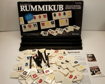 The Original Rummikub by Pressman from 1990 The Fast Moving Rummy Tile Game Complete