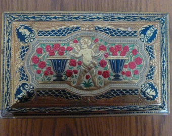 DECORATIVE ENAMELLED METAL Container