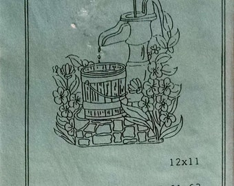 American Dimensions, Inc Ultra-Punch Heat Transfer Pattern #919 Old Fashion Water Pump Outdoor Fountain