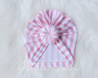 Pink Striped Turban