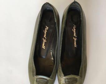 Margaret Jerrold Leather Shoes | Size 7B | Vintage 1960's | Lizard | Margaret Jerrold Shoes
