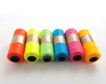 Polyester Embroidery Thread - Neon Colors - Vintage Embroidery Thread - 6 Colors Embroidery Floss - Easy Punch Thread - Needlepoint Thread