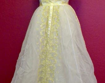 Vintage Sunshine Yellow Ball Gown