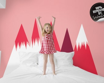 Removable mountains wall decal, Mountainous wall decor for Kids room, Nursery, Self adhesive, Peel and Stick wall sticker #55